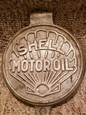 Vintage Gas Pump Lubster shell motoroil Can Oil Shell Can lubster cover lid