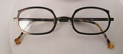 Vintage L A Eyeworks 1997 NOS Eyeglasses Satin Bronze Color Metal Casper 414 #19