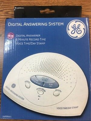 GE Electronics DIGITAL ANSWERING SYSTEM White 29888GE1 Atlinks Messaging Machine