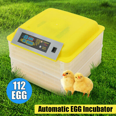 Automatic Egg Chicken Incubator 7 56 112 Egg Poultry Hatcher Temperature Control
