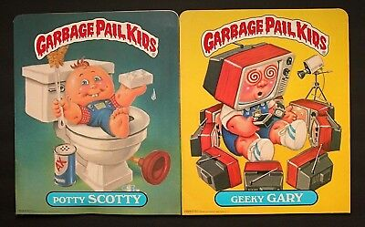 Excellent Unused 1985 Topps Series 1 Garbage Pail Kids Folders - Set Of 2