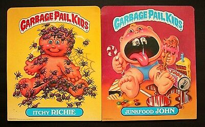 Excellent Unused 1985 Topps Series 1 Garbage Pail Kids Folders - Set Of 2 Reagan