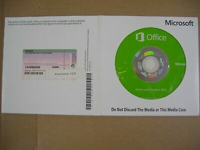 MS Microsoft Office 2013 Home and Student Full English Version DVD =BRAND NEW=
