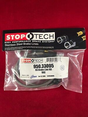 Stoptech Stainless Steel Front Brake Line 06-07 Audi B7 Rs4  950.33005
