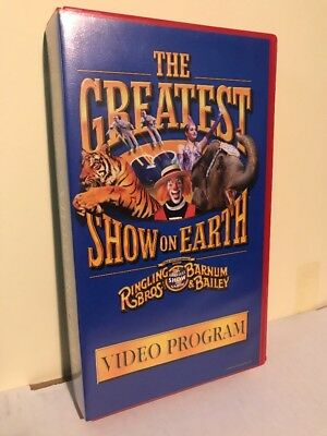 Ringling Bros Barnum & Bailey Greatest Show On Earth Circus VHS Video Program