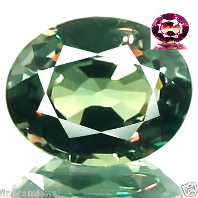 0.63ct WOW FLAWLESS NATURAL COLOR CHANGE GARNET 5A+ BEST RED FLASH SPARKLING GEM