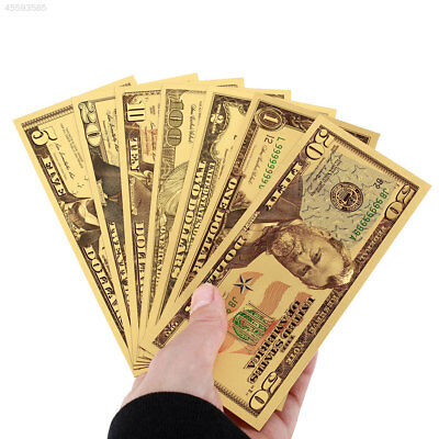 Realistic Gold Antique Plated Home Decoration Gifts Fake Money Banknotes