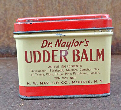 advertising tin DR. NAYLORS Udder Balm DAIRY COW farm fresh BARN FIND can lidded
