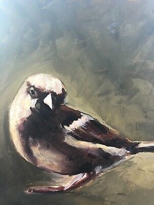 Original Acrylic Painting - Brown Bird