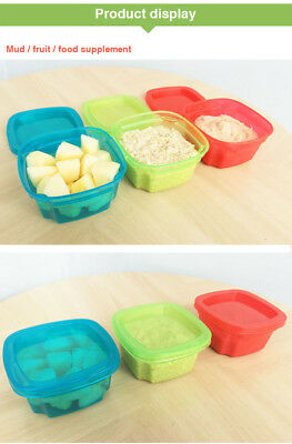 Baby Snack Storage Food Container Pots Freezer Feeding Storage Case with Lid UK