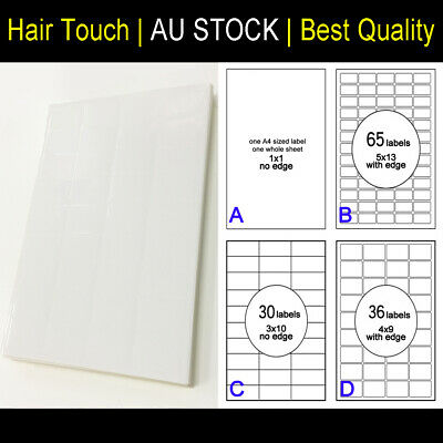 A4 White Sticker Paper Sheet Self Adhesive Label Printer 36 labels/sheet