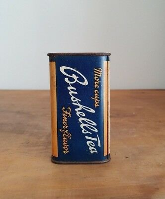 Vintage Bushells Tea sample Tin money box - Blue label - Australian - Grocery