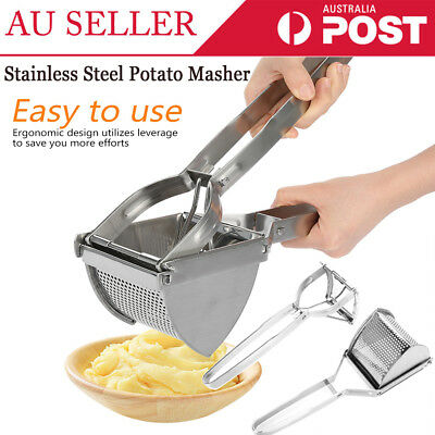 Professional Stainless Steel Potato Ricer Handheld Masher Fruit Juice Press Tool