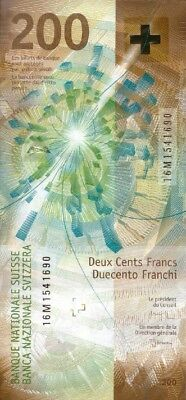 Switzerland 200 Francs 2018 (2016) P-New !!!available!!! Unc