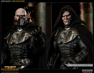 """SOLD OUT 1/6 SIDESHOW EXCLUSIVE Star Wars Old Republic Darth Malgus 12"""" Figure"""