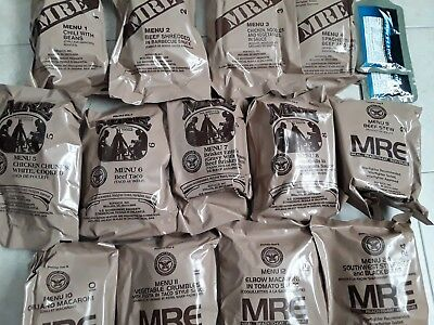 US MRE Meal ready to eat, Insp./Test 13 x 06/2020, 12 x A, 1 x B