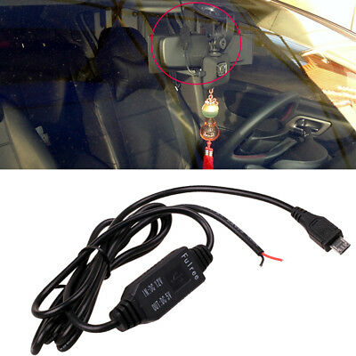 Car DC 12v to 5v Micro/Mini USB Charger GPS Tablet Recorder Camera Cable