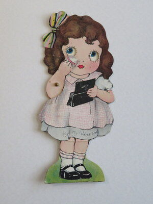 Vintage Valentine, Girl With a Powder Puff, Mechanical