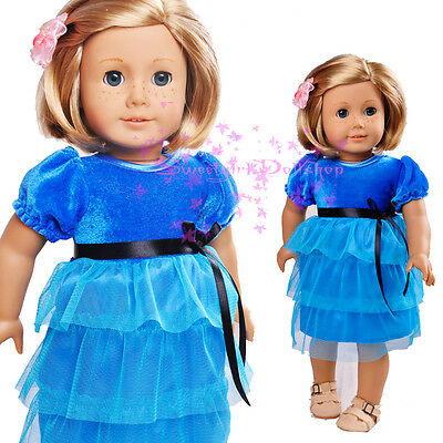 "Cute Handmade SKyBlue one-piece for American Girl 18""Doll Selection"