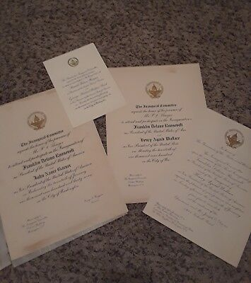 Franklin D. Roosevelt And Ronald Reagan Inauguration Invitations