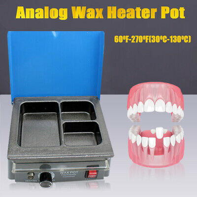 Dental Lab Electric Wax Waxer 3 Well Analog Heater  Melting Dipping Pot Machine