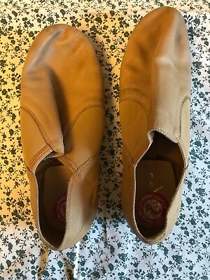Tan Split Sole Jazz Shoes - Size 9 Girls