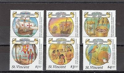 ST VINCENT - SG1125-1130 MNH 1988 500th ANNIV DISCOVERY OF AMERICA