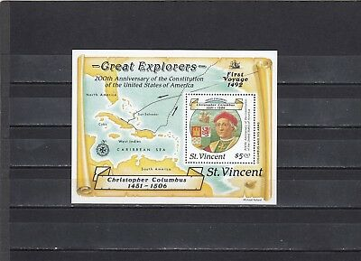 ST VINCENT - SGMS1131 MNH 1988 500th ANNIV DISCOVERY OF AMERICA