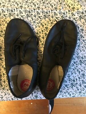 Black Split Sole Lace Up Jazz Ballet Shoes - Size 7.5