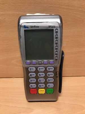 VeriFone Vx670 Mobile Wireless Credit Card Machine NO BATTERY CARD READER ONLY