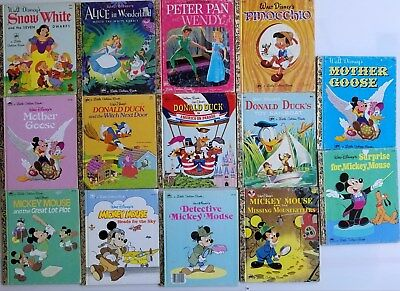 Lot of 14 Children's  Little Golden Books Disney Mickey Mouse  Snow White