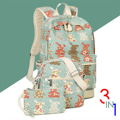 [Back to School] 3-IN-1 Fashion Cute Backpack College School Bag For Girls - US