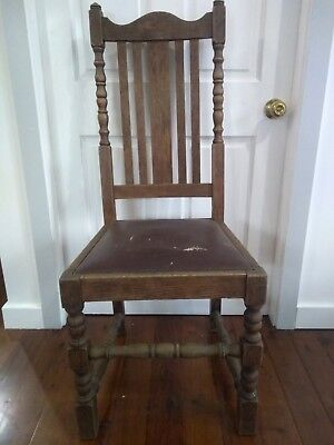 Antique timber chair