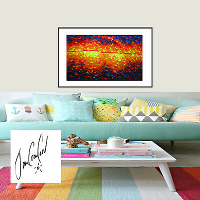 Original Art Painting Print Australia Jane Crawford Poster Bush Fire Aboriginal