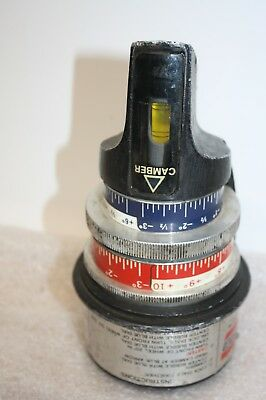 Vintage Ammco Magnetic Camber/Caster Gauge Model # 2550 Used & Shows Some Ware