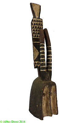 Dogon Horned Mask Painted Crest Mali African Art
