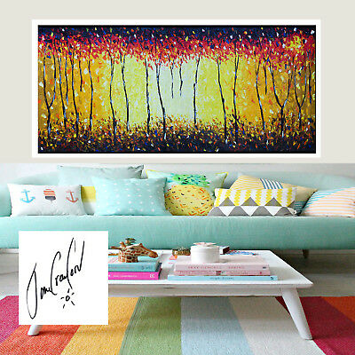 Original Art Painting Print Australia Jane Crawford Bush Fire Aboriginal canvas