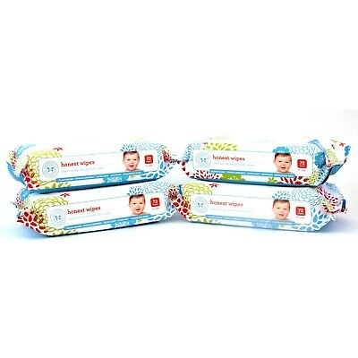 Honest Company Baby Wipes 72ct Pack of 4 Hypoallergenic fragrance free Newborn