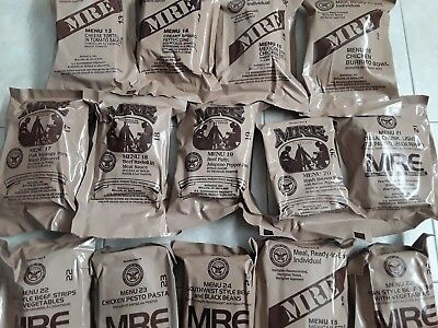 14 x US MRE Meal, Insp./Test 06/2020, B