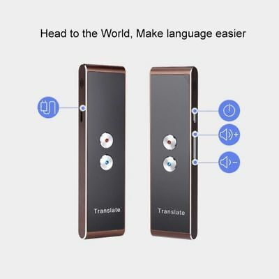 Brown Portable Smart Voice Translator Two-Way Real Time 30+Language Translation