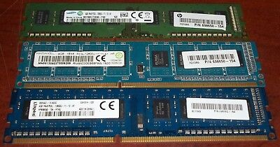 3 4GB DDR3 PC Memory 1Rx8 PC3L-12800U Kingston Samsung Ramaxel Free Shipping