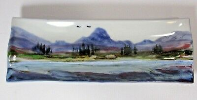 Highland Stoneware Scenic Rectangular Tray 27 x 9.5cm, Excellent Condition