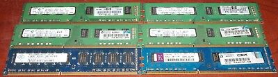 6 2GB DDR3 PC Memory 2Rx8 PC3-10600U SAmsung Nanya Kingston Free Shipping