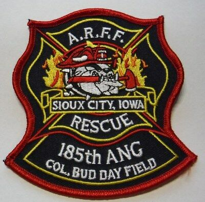 SIOUX CITY IOWA COL BUD DAY FIELD 185th ANG FIRE RESCUE ARFF PATCH UNUSED