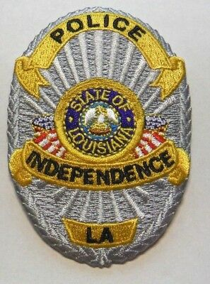 Independence Louisiana Police Vest Hat Patch Unused