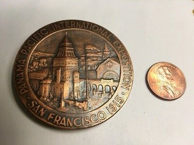 1915 San Francisco Panama Pacific International Exposition Bronze by GEO. LARSON
