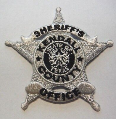 Kendall County Texas Sheriff Vest Hat Patch Unused