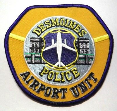 Des Moines Iowa Police Airport Unit Patch Unused
