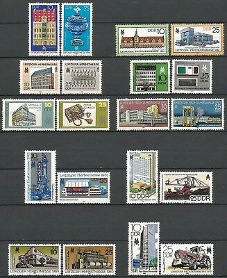 Germany (East) DDR 1980 1981 1982 1983 1984 MNH - Leipzig Spring Autumn Fairs