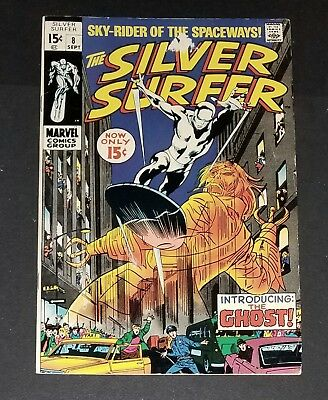 Silver Surfer #8 VFN+ (Marvel Sept. 1969) Introducing The Ghost!